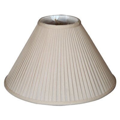 Timeless 14 Silk Empire Lamp Shade Color: Beige/Gold