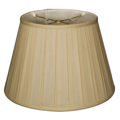 Timeless 16 Silk Empire Lamp Shade Color: Beige/Gold