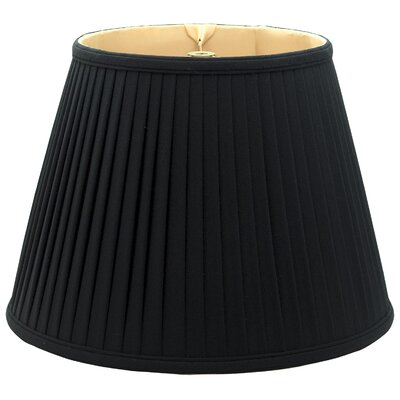 Timeless 12 Silk Empire Lamp Shade Color: Black/Off White
