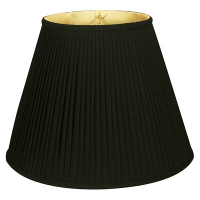 Timeless 14 Silk Empire Lamp Shade Color: Black/Off White