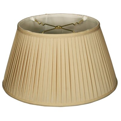 Timeless Side Pleat 19 Silk Empire Lamp Shade Color: Beige/Off White