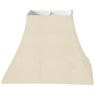 Timeless 12 Silk Bell Lamp Shade Color: Beige/Off White