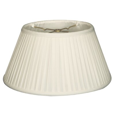 Timeless Scallop 12.5 Silk Empire Lamp Shade Color: White