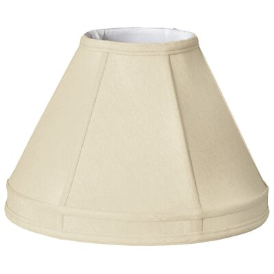 Timeless 18 Silk Empire Lamp Shade Color: Beige/Gold
