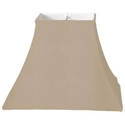 Timeless 12 Silk Bell Lamp Shade Color: Gold/Off White