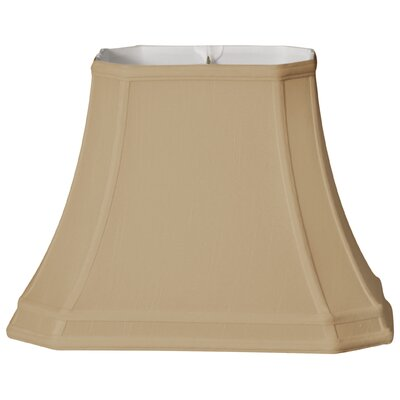 Timeless 14 Silk Bell Lamp Shade Color: Gold/Off White