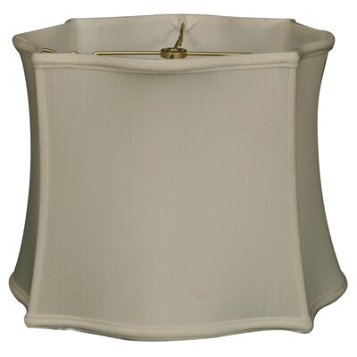 Timeless 13 Silk Novelty Lamp Shade Color: White