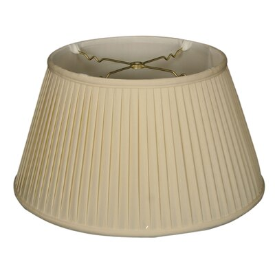 Timeless Side Pleat 19 Silk Empire Lamp Shade Color: Eggshell/Off White