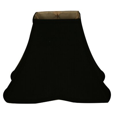 Timeless 12 Silk Bell Lamp Shade Color: Black/Off White