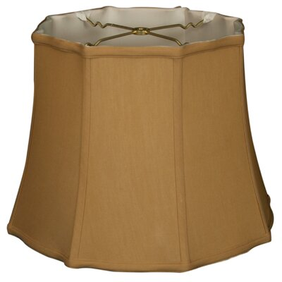 Timeless 14 Silk Bell Lamp Shade Color: Antique Gold/Off White