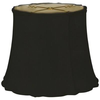 Timeless 16 Silk Bell Lamp Shade Color: Black/Off White
