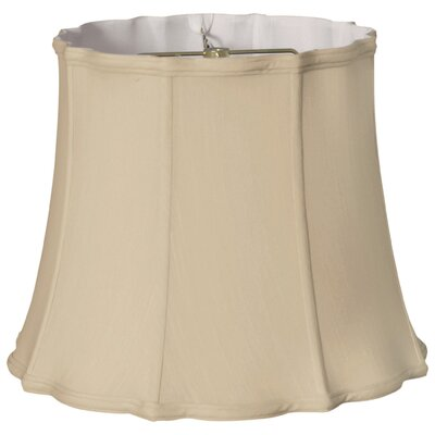 Timeless 18 Silk Bell Lamp Shade Color: Beige/Gold