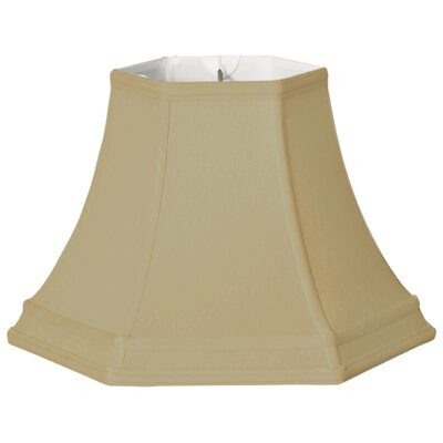 Timeless Hexagon 12 Silk Bell Lamp Shade Color: Gold