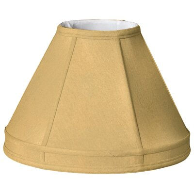 Timeless 12 Silk Empire Lamp Shade Color: Gold/Off White
