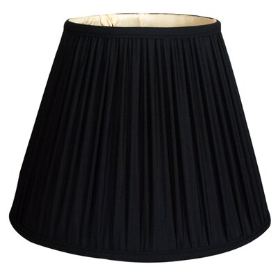 Timeless 12 Silk Empire Lamp Shade Color: Black Gold/Off White