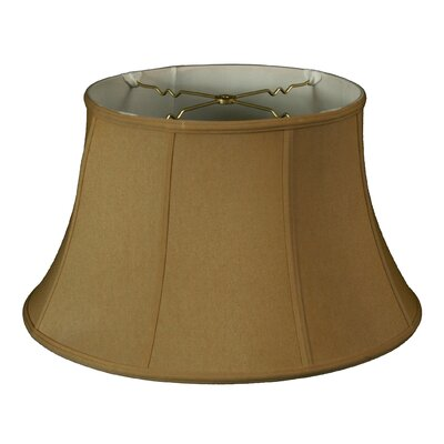 Timeless 19 Silk Bell Lamp Shade Color: Antique Gold/Off White
