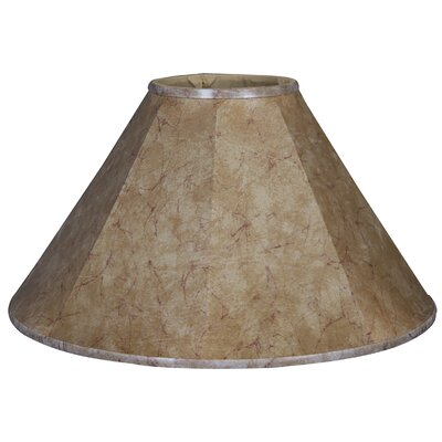Timeless Coolie 14 Faux Leather Empire Lamp Shade