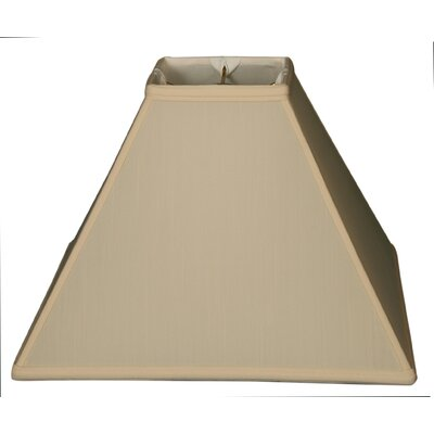 Timeless 16 Silk Empire Lamp Shade Color: Eggshell/Gold