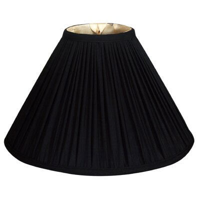 Timeless 18 Silk Empire Lamp Shade Color: Black Gold/Off White