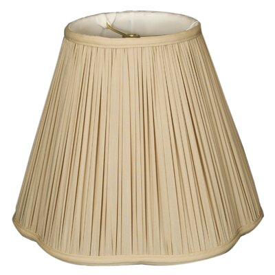 Timeless Scallop 14 Silk Empire Lamp Shade Color: Beige