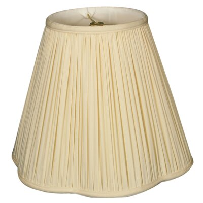 Timeless Scallop 12 Silk Empire Lamp Shade Color: Eggshell/Off White