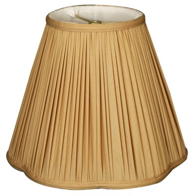 Timeless Scallop 12 Silk Empire Lamp Shade Color: Antique Gold/Off White