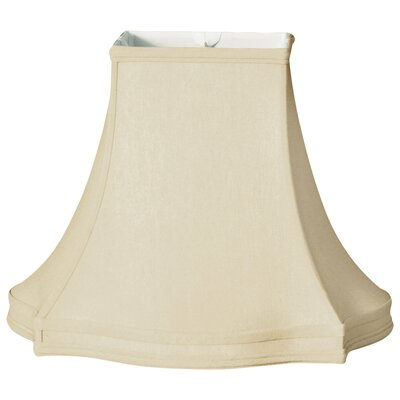 Timeless 18 Silk Bell Lamp Shade Color: Beige/Off White