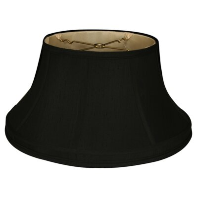 Timeless 17 Silk Bell Lamp Shade Color: Black/Gold
