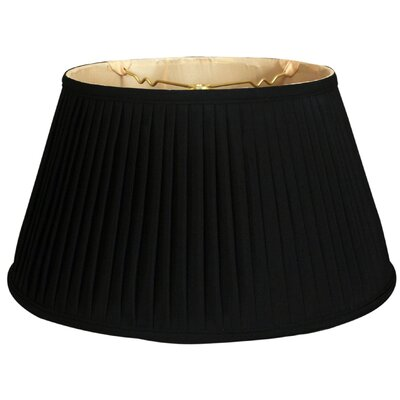 Timeless Side Pleat 19 Silk Empire Lamp Shade Color: Black/Gold