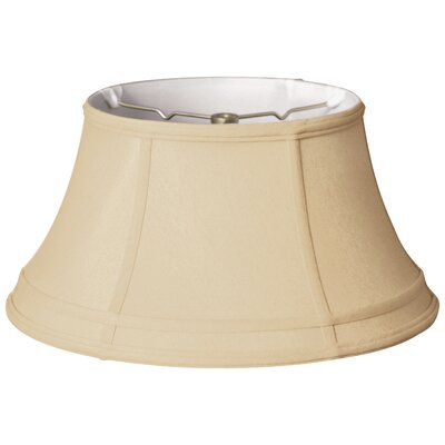 Timeless 19 Silk Bell Lamp Shade Color: Beige/Off White