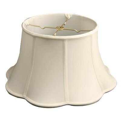 Timeless 17 Silk Bell Lamp Shade Color: White
