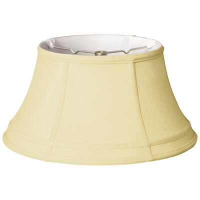 Timeless 17 Silk Bell Lamp Shade Color: Eggshell/Off White