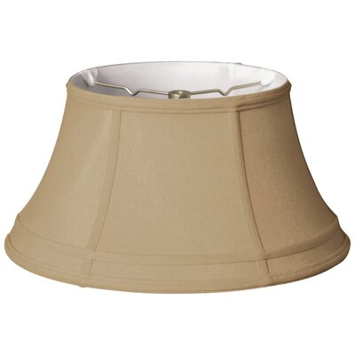 Timeless 17 Silk Bell Lamp Shade Color: Gold/Off White