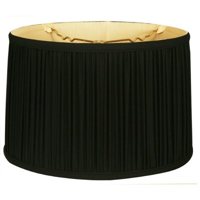 Timeless 16 Silk Drum Lamp Shade Color: Black/Off White