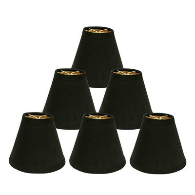 Hardback 6 Silk/Shantung Empire Candelabra Shade Color: Black