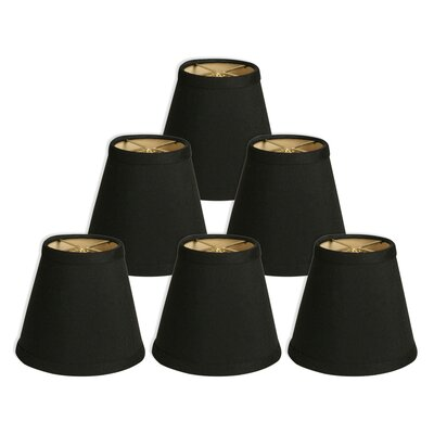 Hardback 5 Silk/Shantung Empire Candelabra Shade Color: Black