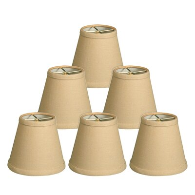 Hardback 5 Silk/Shantung Empire Candelabra Shade Color: Beige