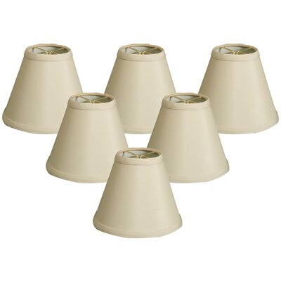 Hardback 6 Silk/Shantung Empire Candelabra Shade Color: Beige