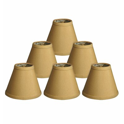 Hardback 6 Silk/Shantung Empire Candelabra Shade Color: Antique Gold