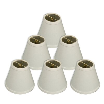6 Silk/Shantung Empire Candelabra Shade Color: White