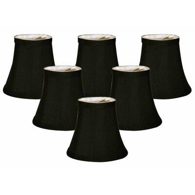 5 Silk/Shantung Bell Candelabra Shade Color: Black