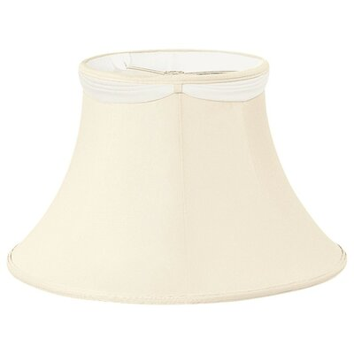 Timeless 12 Silk/Shantung Bell Lamp Shade Color: Eggshell