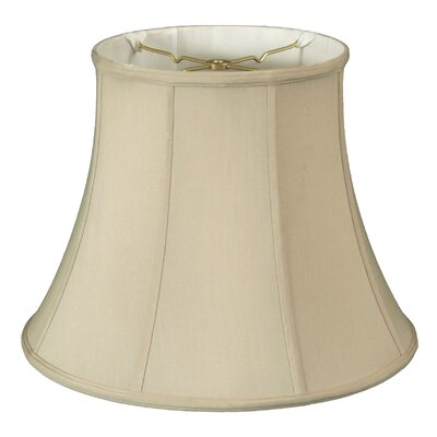 Regal 16 Silk/Shantung Bell Lamp Shade Color: Beige