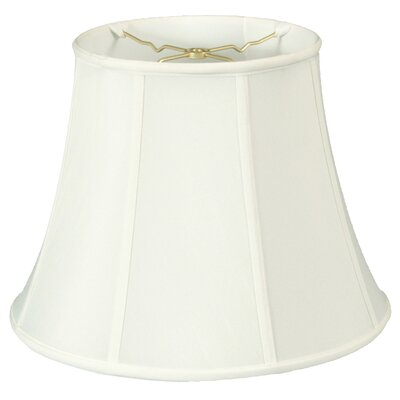 Regal 16 Silk/Shantung Bell Lamp Shade Color: White