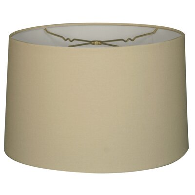 Timeless 14 Linen Drum Lamp Shade Color: Linen Eggshell