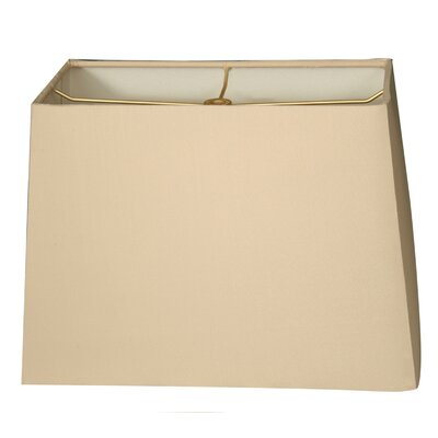 9 Linen Rectangular Lamp Shade Color: Beige