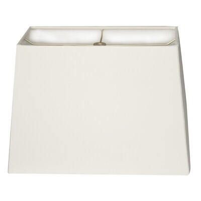 9 Linen Rectangular Lamp Shade Color: White