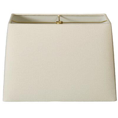 9 Linen Rectangular Lamp Shade Color: Linen Eggshell