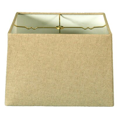 Timeless 14 Linen Square Lamp Shade Color: Linen Cream