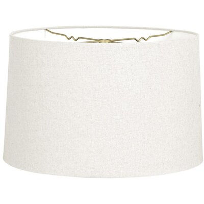 Timeless 14 Linen Drum Lamp Shade Color: Linen White
